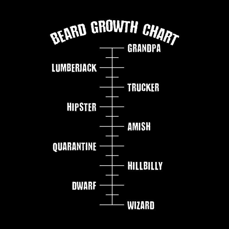 Beard Growth Chart Men's T-Shirt by Ninth Street Design's Artist Shop