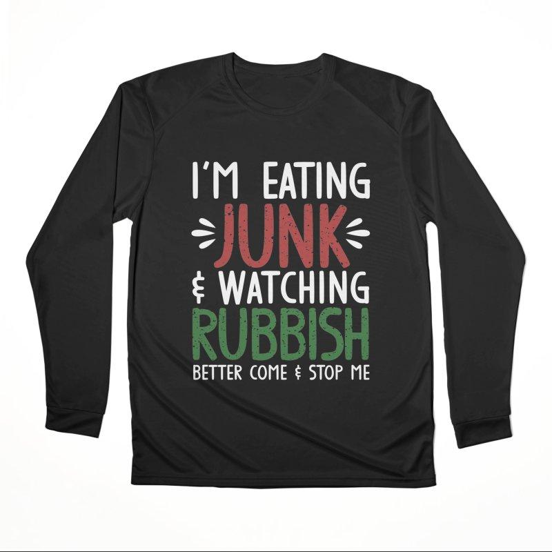 Eating junk & watching rubbish! Men's Longsleeve T-Shirt by Ninth Street Design's Artist Shop