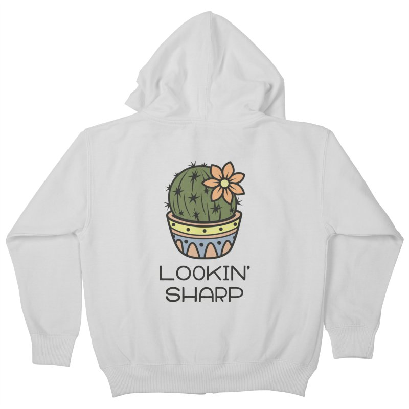 Lookin' Sharp Kids Zip-Up Hoody by ninthstreetdesign's Artist Shop