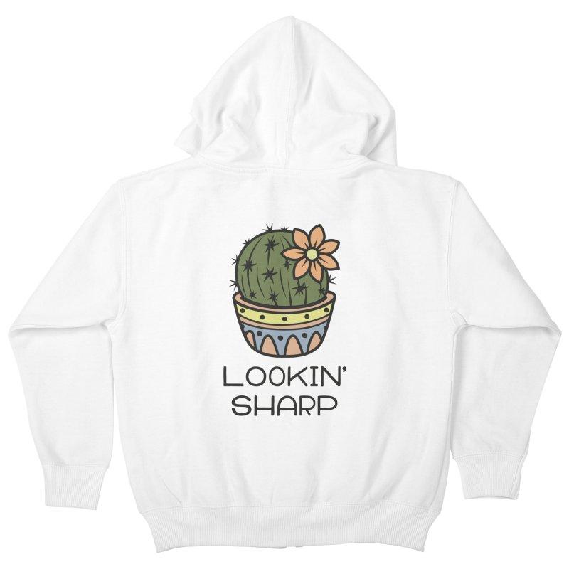 Lookin' Sharp Kids Zip-Up Hoody by ninthstreetdesign's Artist Shop