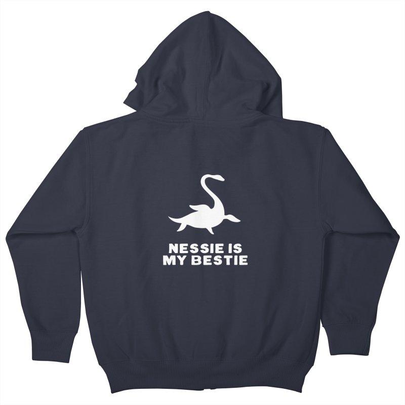 Nessie is my bestie Kids Zip-Up Hoody by ninthstreetdesign's Artist Shop
