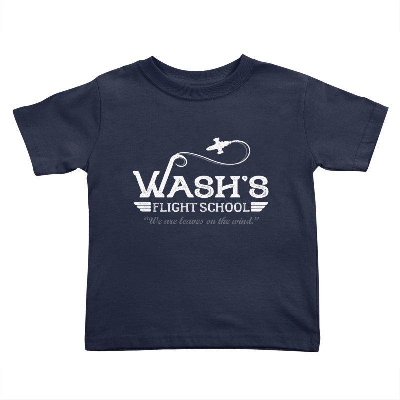 Wash's Flight School Kids Toddler T-Shirt by ninthstreetdesign's Artist Shop