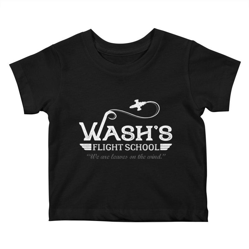 Wash's Flight School Kids Baby T-Shirt by ninthstreetdesign's Artist Shop