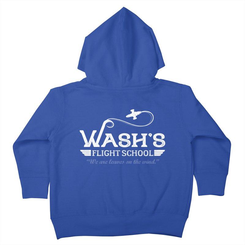 Wash's Flight School Kids Toddler Zip-Up Hoody by ninthstreetdesign's Artist Shop