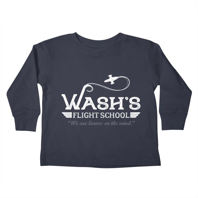 Wash's Flight School Kids Toddler Longsleeve T-Shirt by ninthstreetdesign's Artist Shop