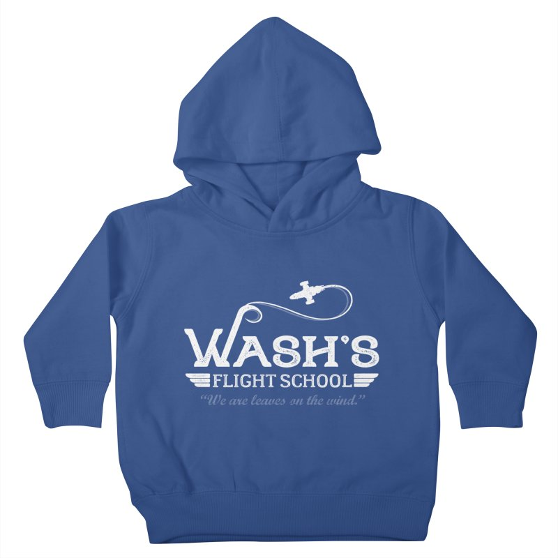 Wash's Flight School Kids Toddler Pullover Hoody by ninthstreetdesign's Artist Shop
