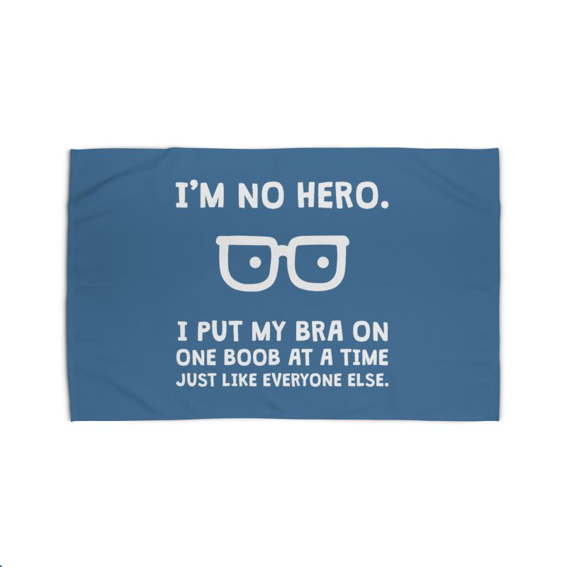 I'm no hero Home Rug by ninthstreetdesign's Artist Shop