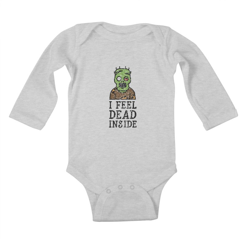 Dead inside Kids Baby Longsleeve Bodysuit by ninthstreetdesign's Artist Shop