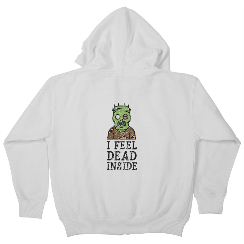Dead inside Kids Zip-Up Hoody by ninthstreetdesign's Artist Shop