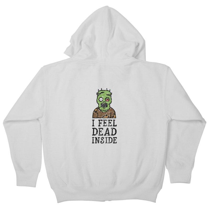 Dead inside Kids Zip-Up Hoody by ninthstreetdesign's Artist Shop
