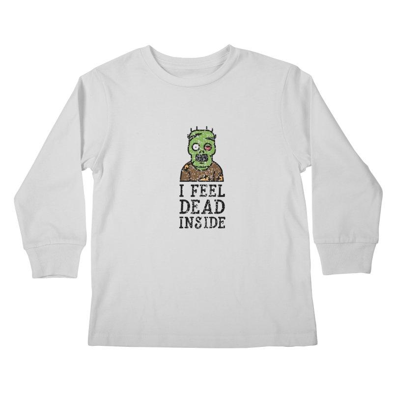 Dead inside Kids Longsleeve T-Shirt by ninthstreetdesign's Artist Shop
