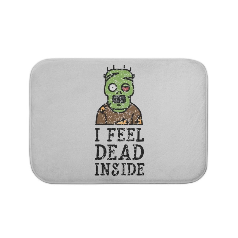Dead inside Home Bath Mat by ninthstreetdesign's Artist Shop