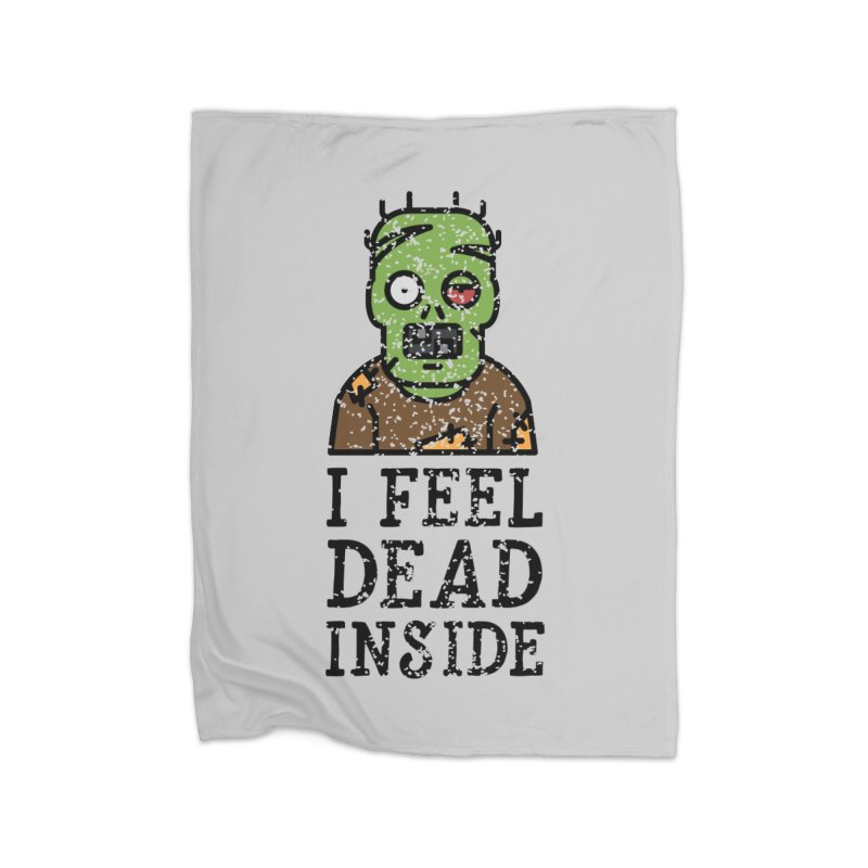 Dead inside Home Blanket by ninthstreetdesign's Artist Shop