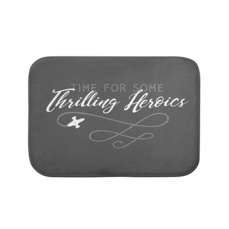 Thrilling Heroics Home Bath Mat by ninthstreetdesign's Artist Shop