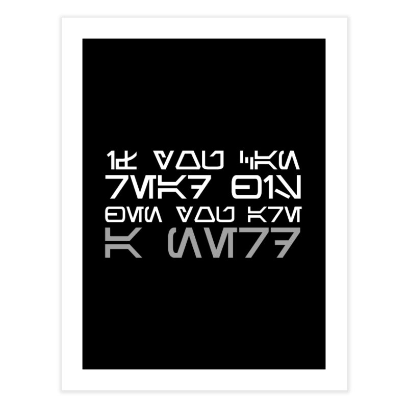 If you can read this, then you're a nerd Home Fine Art Print by ninthstreetdesign's Artist Shop