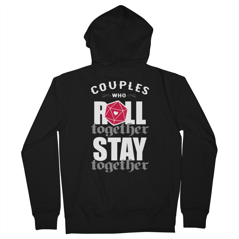 Couples who roll together Men's Zip-Up Hoody by ninthstreetdesign's Artist Shop