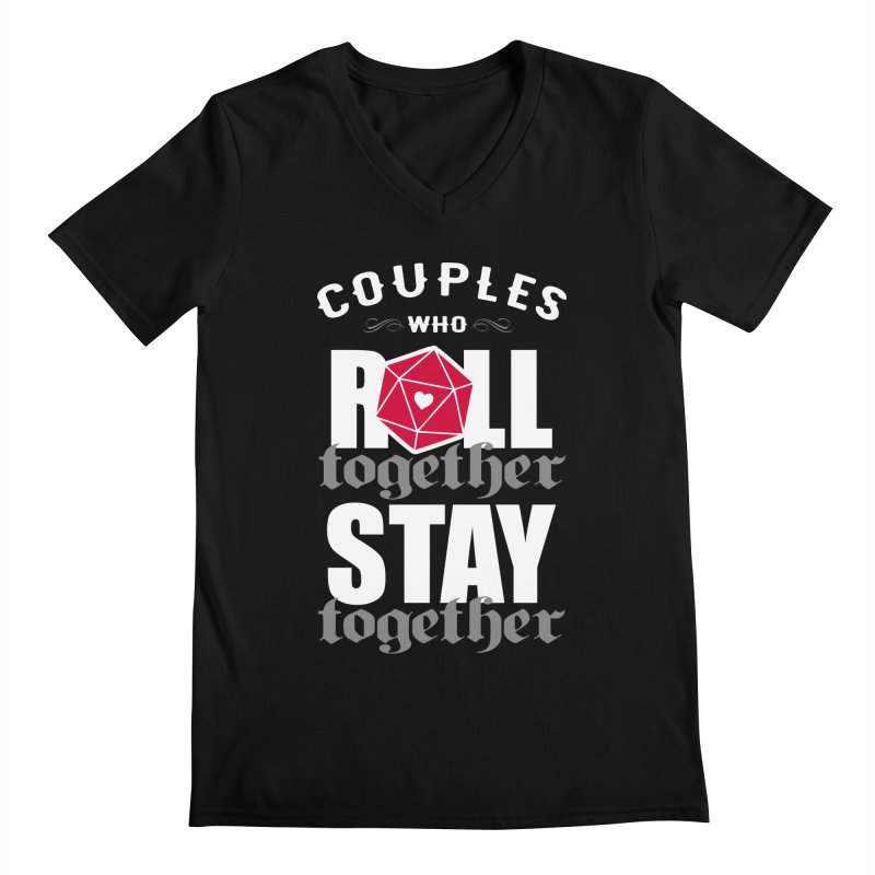 Couples who roll together Men's V-Neck by ninthstreetdesign's Artist Shop
