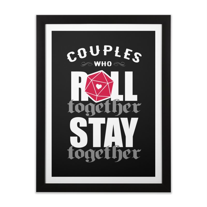 Couples who roll together Home Framed Fine Art Print by ninthstreetdesign's Artist Shop