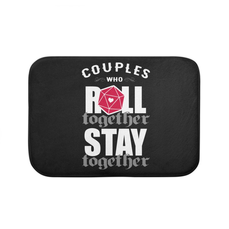 Couples who roll together Home Bath Mat by ninthstreetdesign's Artist Shop