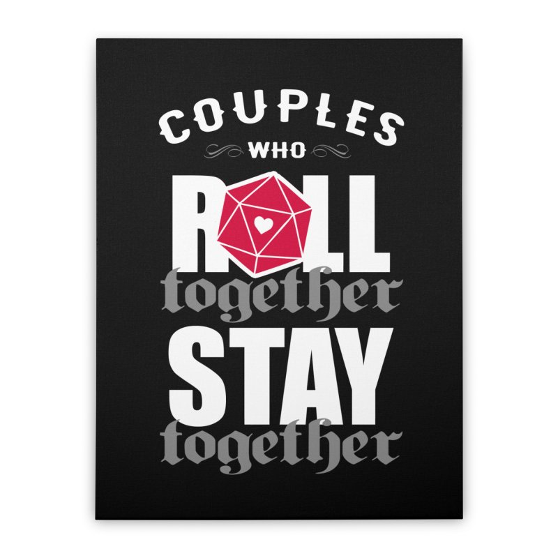 Couples who roll together Home Stretched Canvas by ninthstreetdesign's Artist Shop