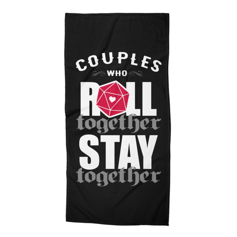 Couples who roll together Accessories Beach Towel by ninthstreetdesign's Artist Shop