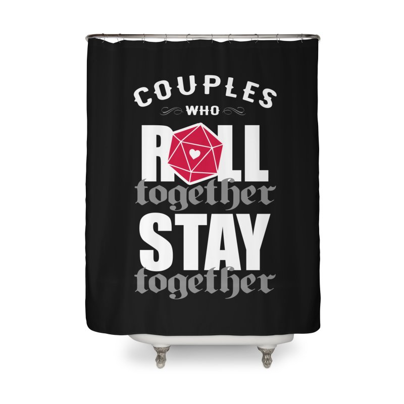 Couples who roll together Home Shower Curtain by ninthstreetdesign's Artist Shop