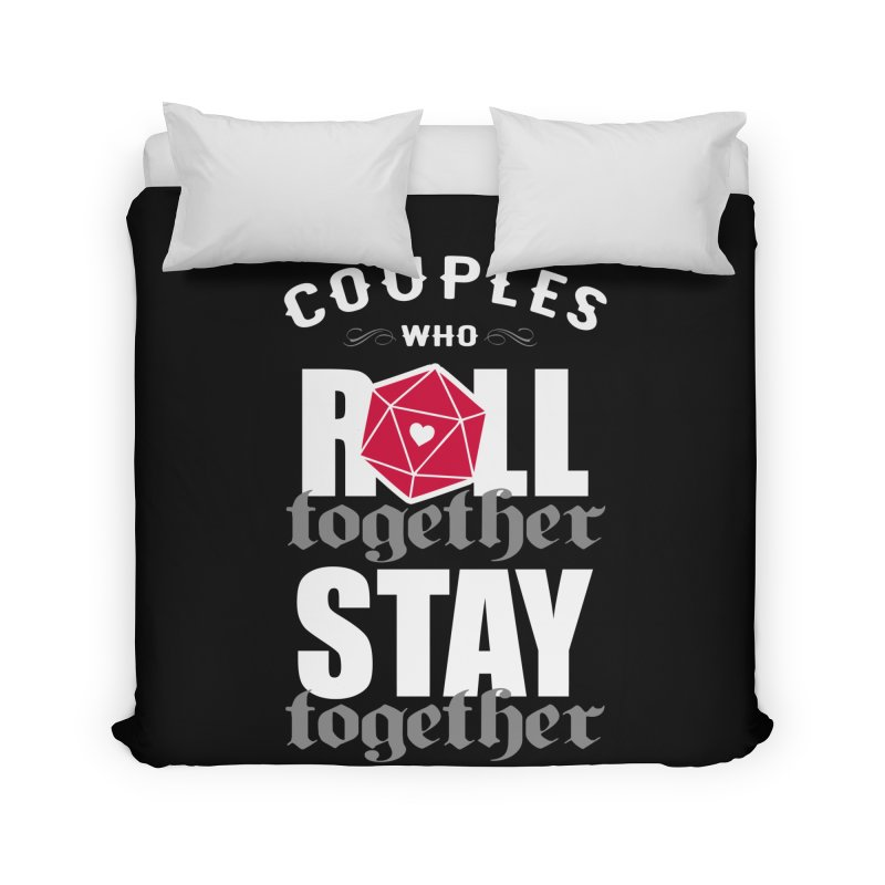 Couples who roll together Home Duvet by ninthstreetdesign's Artist Shop
