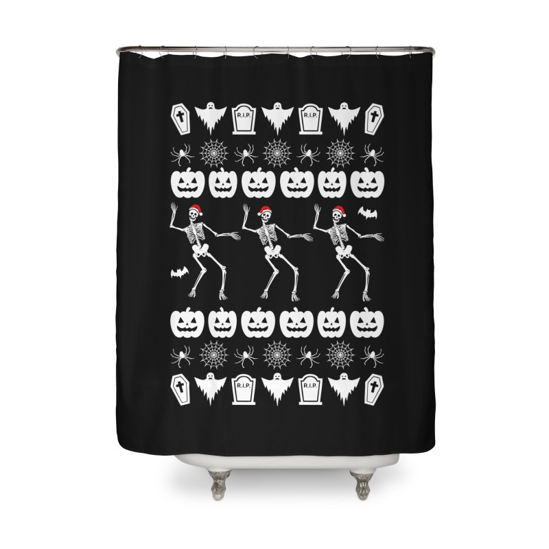 Spooky Christmas Sweater Home Shower Curtain by ninthstreetdesign's Artist Shop