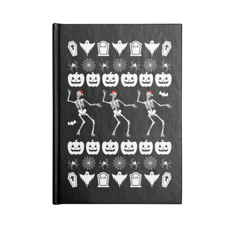 Spooky Christmas Sweater Accessories Notebook by ninthstreetdesign's Artist Shop