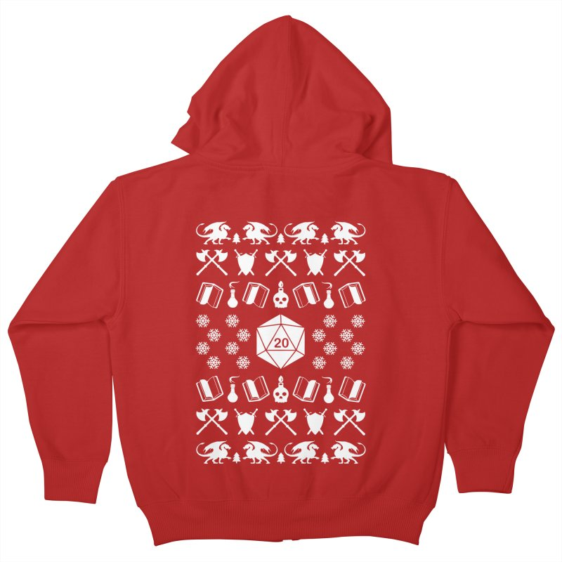 Merry Critmas Kids Zip-Up Hoody by ninthstreetdesign's Artist Shop