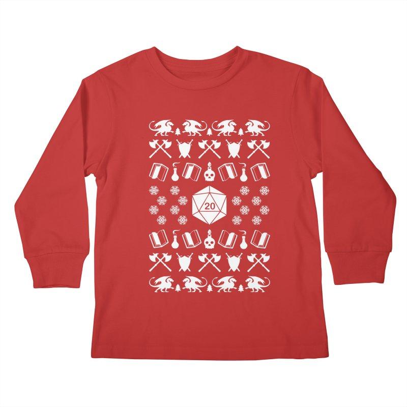 Merry Critmas Kids Longsleeve T-Shirt by ninthstreetdesign's Artist Shop