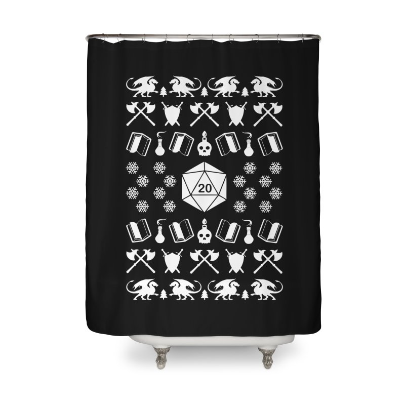 Merry Critmas Home Shower Curtain by ninthstreetdesign's Artist Shop