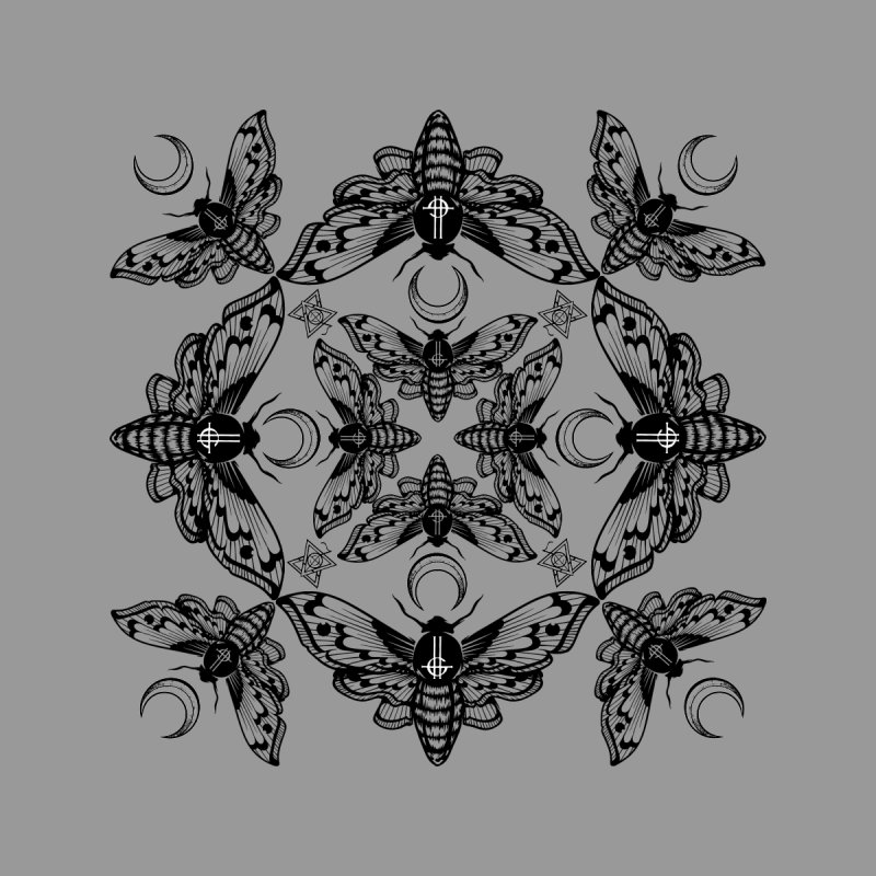 Ghost Cirice Moth Kaleidoscope None  by ninthstreetdesign's Artist Shop