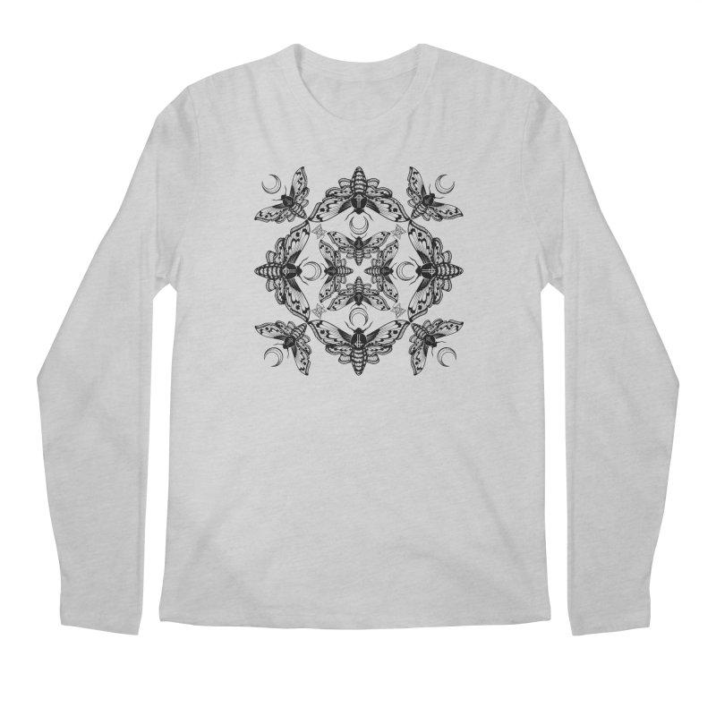 Ghost Cirice Moth Kaleidoscope Men's Longsleeve T-Shirt by ninthstreetdesign's Artist Shop