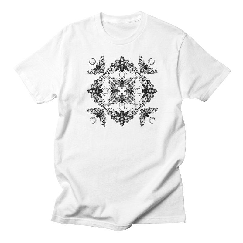 Ghost Cirice Moth Kaleidoscope Women's Unisex T-Shirt by ninthstreetdesign's Artist Shop