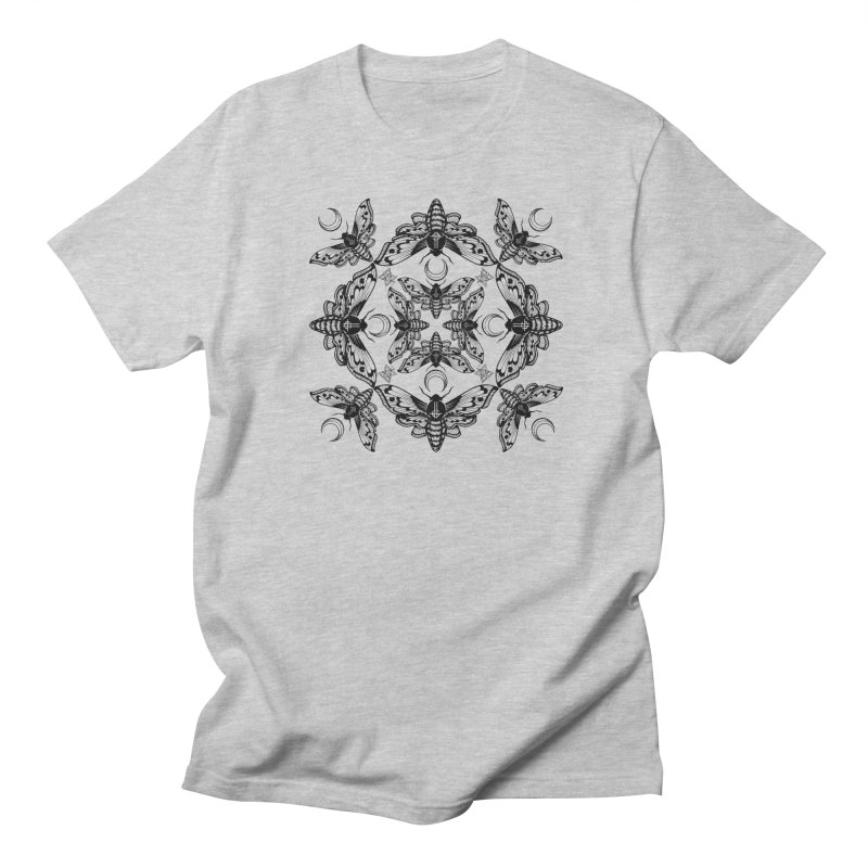 Ghost Cirice Moth Kaleidoscope Men's T-shirt by ninthstreetdesign's Artist Shop