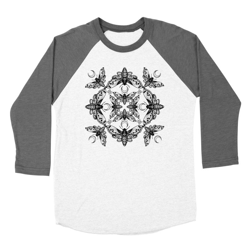 Ghost Cirice Moth Kaleidoscope Men's Baseball Triblend T-Shirt by ninthstreetdesign's Artist Shop