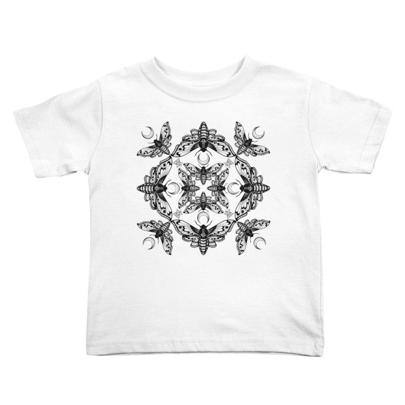 Ghost Cirice Moth Kaleidoscope Kids Toddler T-Shirt by ninthstreetdesign's Artist Shop