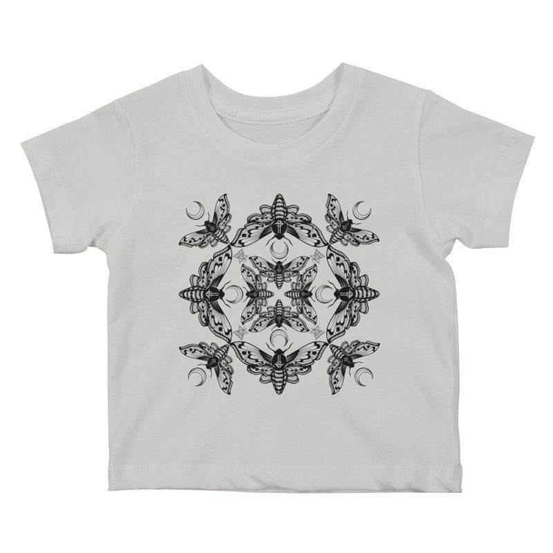 Ghost Cirice Moth Kaleidoscope Kids Baby T-Shirt by ninthstreetdesign's Artist Shop