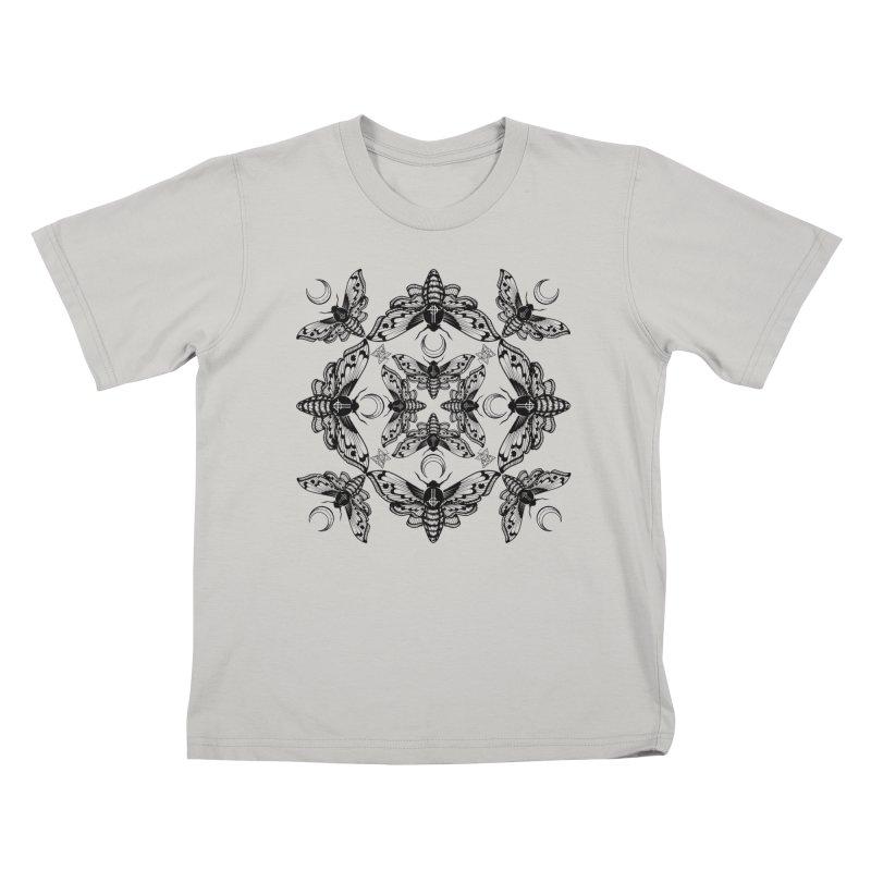 Ghost Cirice Moth Kaleidoscope Kids T-Shirt by ninthstreetdesign's Artist Shop