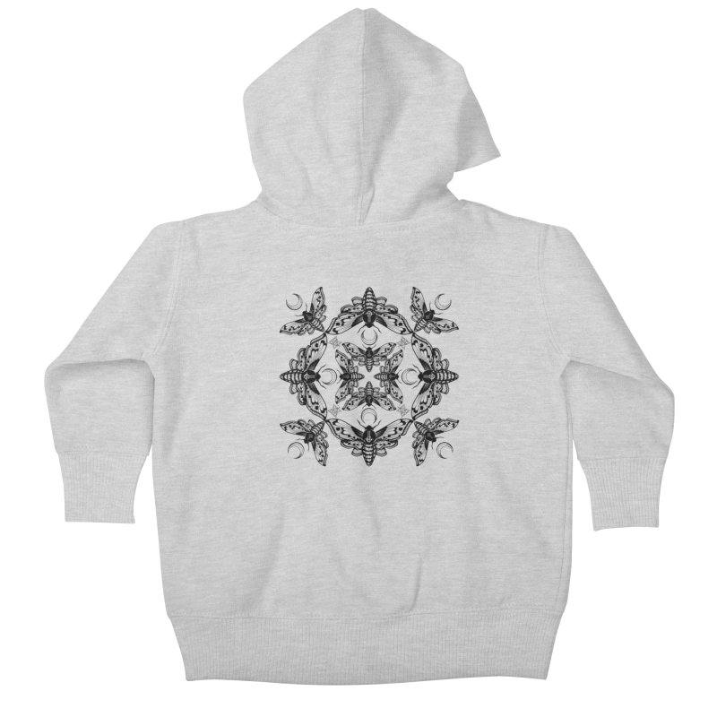 Ghost Cirice Moth Kaleidoscope Kids Baby Zip-Up Hoody by ninthstreetdesign's Artist Shop