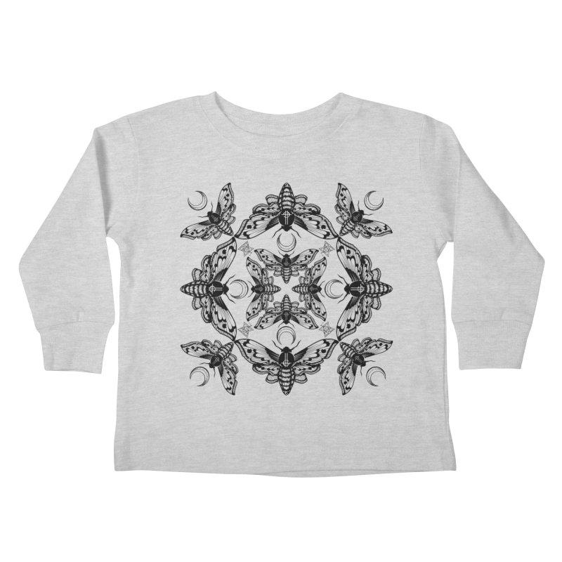 Ghost Cirice Moth Kaleidoscope Kids Toddler Longsleeve T-Shirt by ninthstreetdesign's Artist Shop