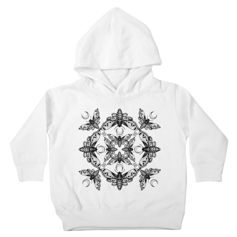 Ghost Cirice Moth Kaleidoscope Kids Toddler Pullover Hoody by ninthstreetdesign's Artist Shop