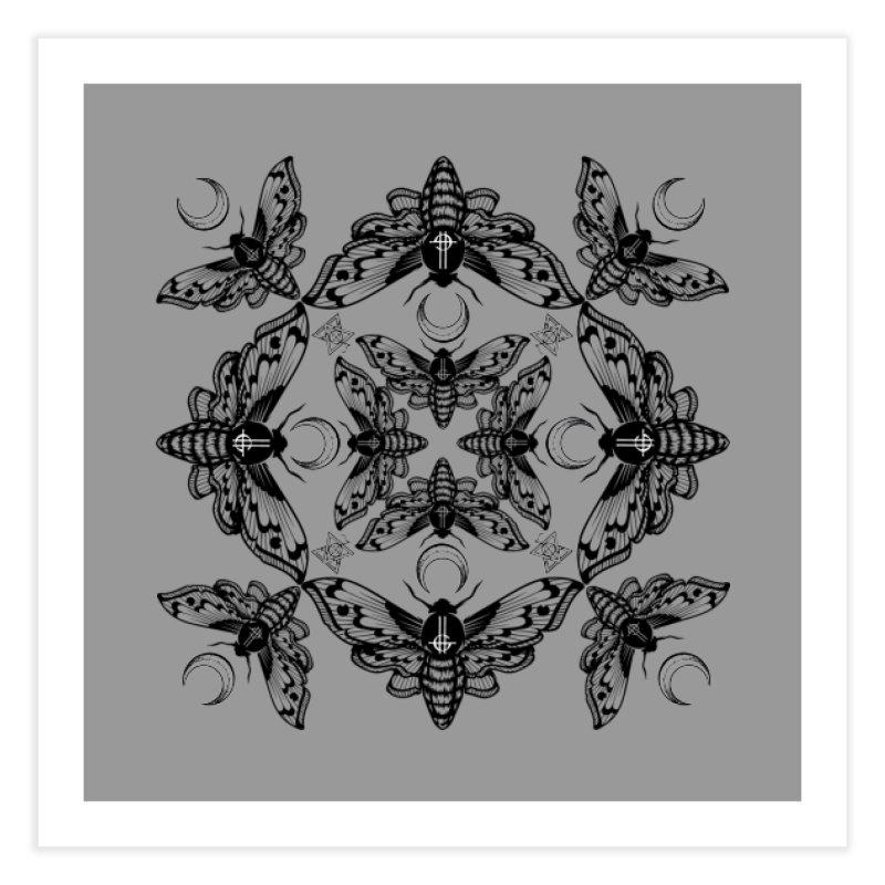 Ghost Cirice Moth Kaleidoscope Home Fine Art Print by ninthstreetdesign's Artist Shop