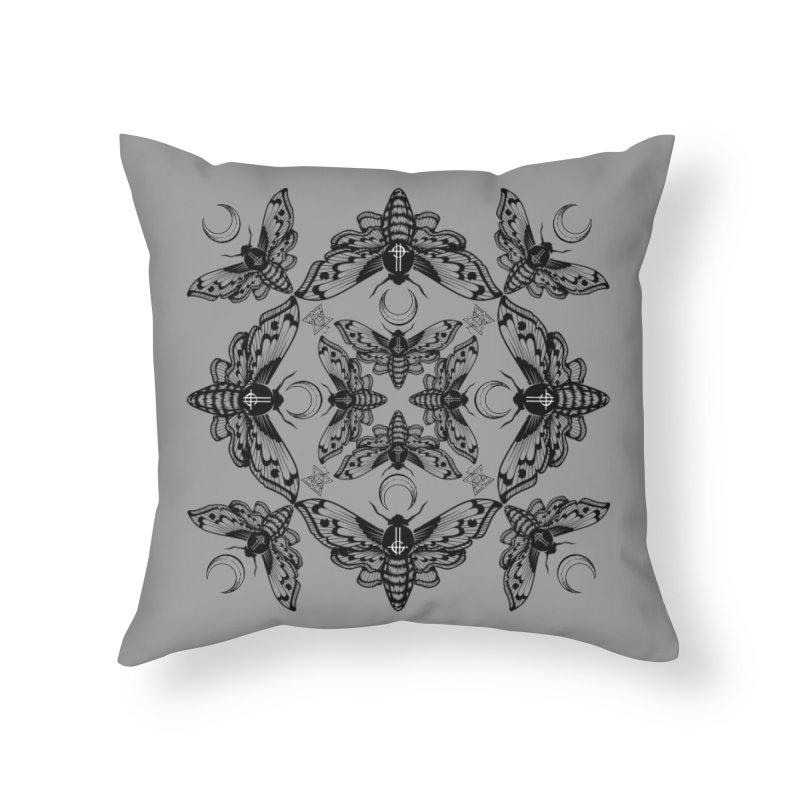 Ghost Cirice Moth Kaleidoscope Home Throw Pillow by ninthstreetdesign's Artist Shop