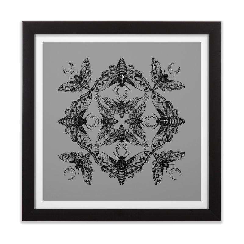 Ghost Cirice Moth Kaleidoscope Home Framed Fine Art Print by ninthstreetdesign's Artist Shop