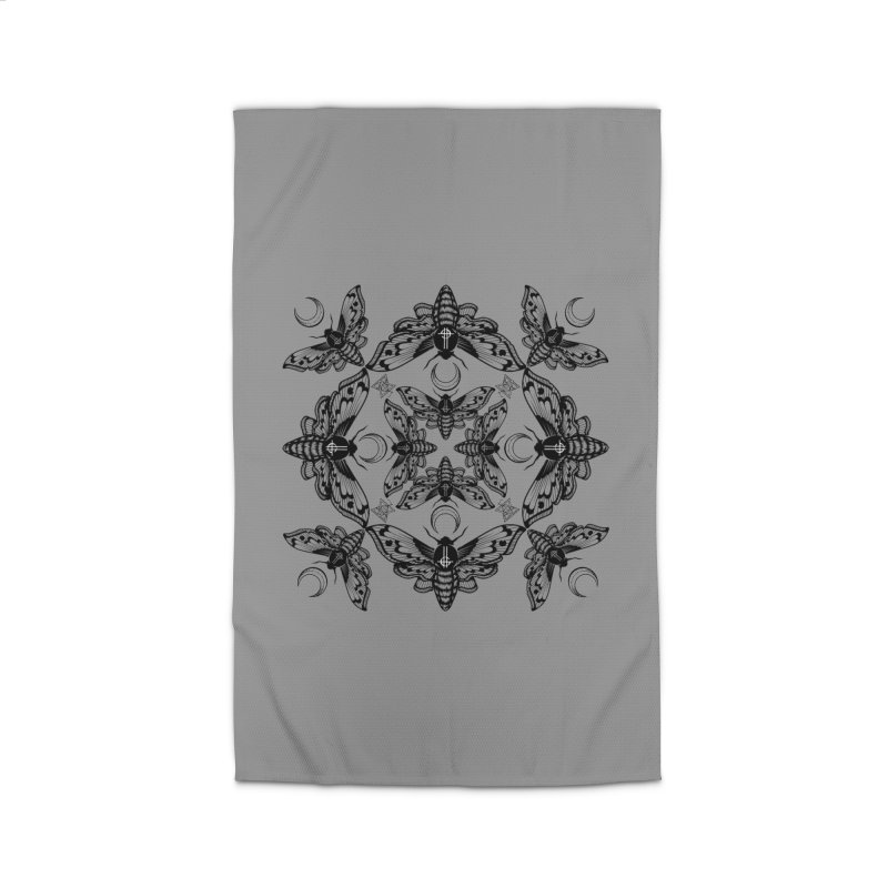 Ghost Cirice Moth Kaleidoscope Home Rug by ninthstreetdesign's Artist Shop