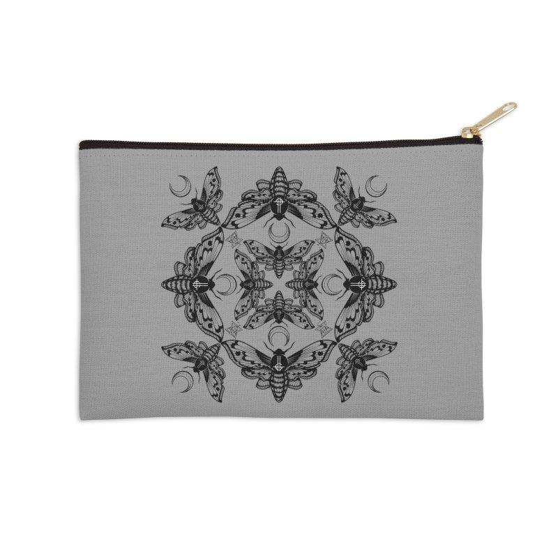 Ghost Cirice Moth Kaleidoscope Accessories Zip Pouch by ninthstreetdesign's Artist Shop
