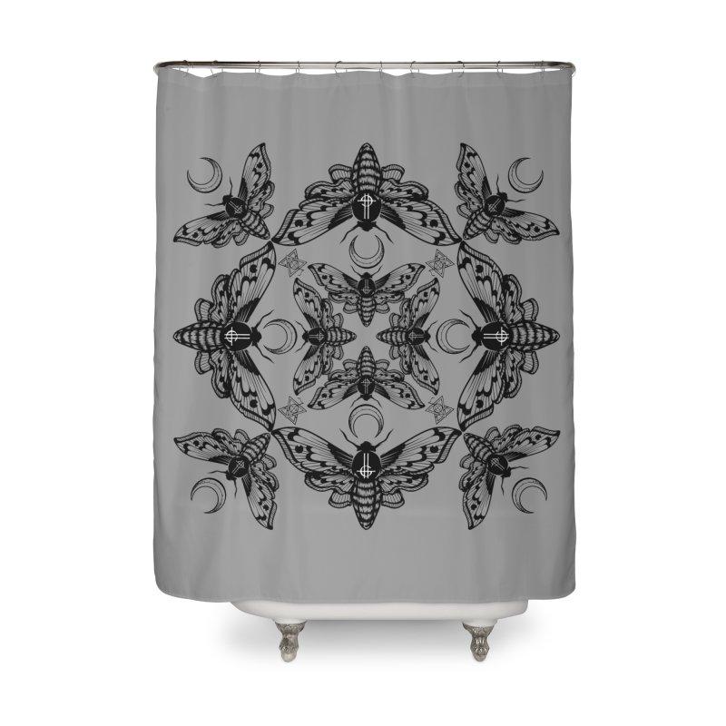 Ghost Cirice Moth Kaleidoscope Home Shower Curtain by ninthstreetdesign's Artist Shop
