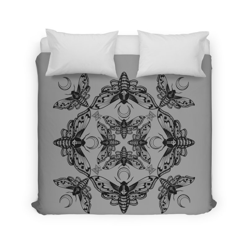 Ghost Cirice Moth Kaleidoscope Home Duvet by ninthstreetdesign's Artist Shop